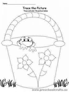 """**FREE** Trace the Picture: Bucket with Frog Worksheet.Help your child develop their pre-writing and fine motor skills with My Teaching Station """"Trace The Picture: Bucket with Frog"""" printable tracing worksheet. Preschool Writing, Preschool Education, Preschool Curriculum, Preschool Printables, Preschool Worksheets, Kindergarten, Motor Activities, Preschool Activities, Frog Coloring Pages"""