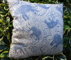 hand-printed paisley elephant pattern by Paisley Power