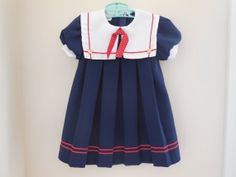 Size 4T Vintage Little Precious Girl Navy Blue by LittleMarin,