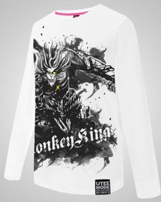 Os Monkey King Wukong camisas de manga longa para homens League of Legends plus size tee-