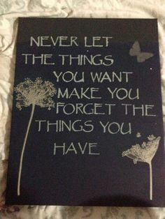 DIY wall art with quote.