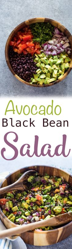 Avocado, black beans, tomato, onion and cilantro dressed with olive oil, garlic and lime making this