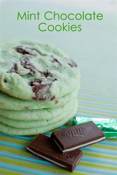 Mint Chocolate Cookies- great for St  Patricks day!