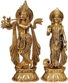 Lord Krishna and Radha // 20in, $495