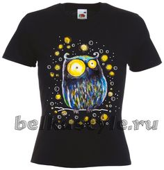 Футболка Сказочная сова купить в Санкт-Петербурге #футболка #design #спб…