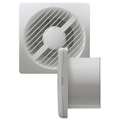 Greenwood Select 100mm Timer Fan With Pull Cord And Gravity Bathroom Extractor