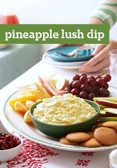 Pineapple Lush Dip -- Taste the tropics in this delicious dip recipe, ready for the appetizer table in just 10 minutes flat.