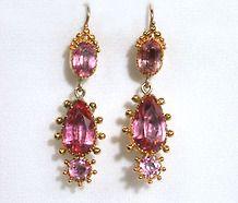 In the Pink: Georgian Paste Earrings
