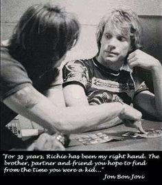 Jon Bon Jovi and Richie Sambora - The real friendship in pictures