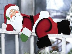 Christmas Yard Art | Funny Santa Christmas Yard Decoration