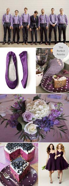{Wedding Colors I Love}: Plum! http://www.theperfectpalette.com/2012/09/wedding-colors-i-love-plum.html#