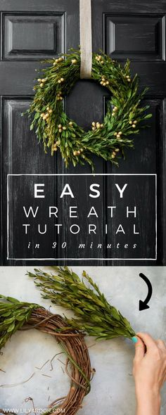 Simple Quick and EASY Fall Wreath Tutorial- Technique Autumn Wreaths For Front Door, Easy Fall Wreaths, Diy Fall Wreath, Christmas Wreaths To Make, How To Make Wreaths, Simple Christmas, Christmas Decorations, Winter Wreaths, Christmas Door
