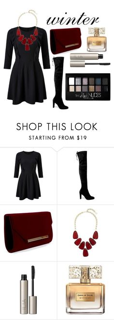"""""""Untitled #25"""" by panagiwta-99 ❤ liked on Polyvore featuring Miss Selfridge, Stuart Weitzman, Kendra Scott, Ilia, Givenchy and Maybelline"""