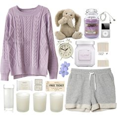Lazy days... by klajus on Polyvore featuring moda, Chicnova Fashion, Monki, H&M, philosophy, Laura Mercier, John Lewis, Casa Couture, Yankee Candle and Newgate