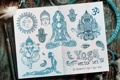 Hand drawn yoga tribal elements set can make your design project stylish and trendy. It is great set for boho style logos, invitations, greeting cards, labels, badges, prints and patterns.