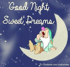 Disney Good night sweet dreams. via www.Facebook.com/JoyEachDay