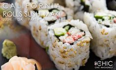 With this healthy sushi rice recipe you can add fun and creativity to create other sushi flavors that you love! What about fusion style sushi or scrumptious California? What's your sushi roll? Enjoy et bon appétit! How To Make California Rolls, California Roll Recipes, California Roll Sushi, California California, I Love Food, Good Food, Yummy Food, Tasty, Sushi Recipes