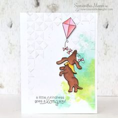 Creating cute and whimsical cards and papercrafts using photopolymer stamps designed by Newton's Nook Designs. Dog Cards, Baby Cards, Puppy Images, Garden Whimsy, Friendship Cards, Animal Cards, Watercolor Cards, Digital Stamps, Creative Cards