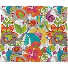 Valentina Ramos Little Elephants Fleece Throw Blanket | DENY Designs Home Accessories   #DENYWishList