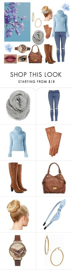 """Blue and brown"" by aranelr on Polyvore featuring Halogen, Topshop, Ermanno Scervino, Ralph Lauren, Jilsen Quality Boots, Marc by Marc Jacobs, Cara, Olivia Burton and Bony Levy"