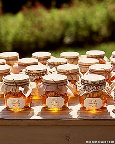 local honey - table/favor idea