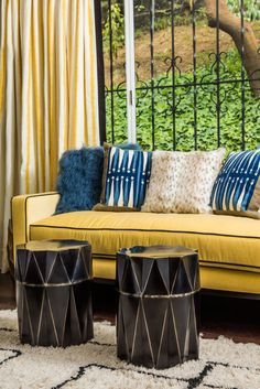 You can't go wrong with a little happy yellow. Click through for more decor inspiration and trends to try.