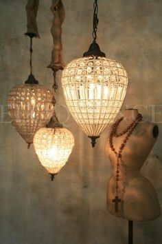 Reproduction Parisian teardrop chandelier.