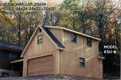 Image detail for -Compact loft garage with rustic siding compliments house with lots of ...