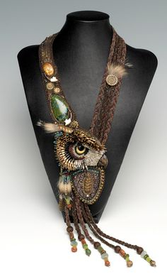 Multi-Strand Necklace with Seed Beads, Gemstone Beads and Cabochons - Fire Mountain Gems and Beads