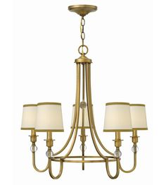 Hinkley Lighting Morgan 5 Light Chandelier in Brushed Bronze 4875BR #lightingnewyork #lny #lighting