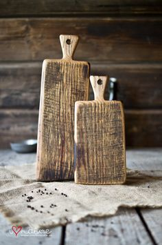 Vintage style serving and cutting boards