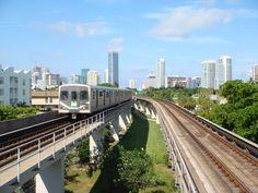 northbound metrorail, brickell condos to right   by carlos alberto arango hurta