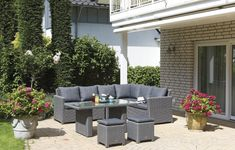 SunnySmart SUMERSET Lounge-Set Gartenmöbel Loungemöbel Rustikal #loungemanufaktur #gartenmöbel #loungemöbel #möbel Somerset, Outdoor Furniture Sets, Outdoor Decor, Aluminium, Patio, Home Decor, Beach Tops, Lounge Furniture, Stools