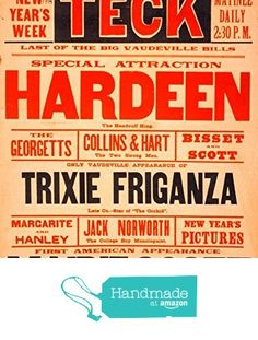 """""""Hardeen - The Handcuff King"""" A4 Glossy Vintage Magicians' Poster Art Print from The Andromeda Print Emporium https://www.amazon.co.uk/dp/B071JRNBYK/ref=hnd_sw_r_pi_dp_Xy9nzbKRC2EF7 #handmadeatamazon"""