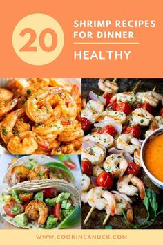 20 shrimp recipes for dinner! Soups to fried rice, sheet pan meals to pasta dishes. If you love shrimp as much as we do, you're going to love these recipes. | Healthy | Easy | Baked | Grilled | Tacos | Kabobs #shrimprecipes #dinnerrecipes Shrimp Recipes For Dinner, Salmon Recipes, Seafood Recipes, Healthy Dinner Recipes, Healthy Food, Dinner Soups, Make Ahead Meals, Tasty Bites, Easy Weeknight Dinners