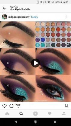 Eye Makeup Steps, Makeup Eye Looks, Love Makeup, Skin Makeup, Makeup Inspo, Makeup Eyeshadow, Makeup Inspiration, Purple Makeup, Makeup Brushes