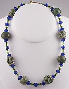 IDEA: Bold Blue & Evergreen Necklace (eebeads.com)