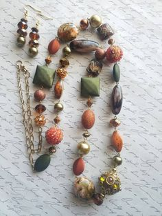 Handmade long Boho necklace sets available now! https://www.etsy.com/listing/501750880/long-boho-beaded-necklace-statement