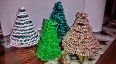 Arbolitos de navidad al crochet