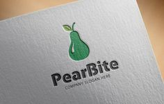 Pear Bite Logo by @Graphicsauthor