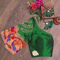 Fancy Blouse Designs, Saree Blouse Designs, Blouse Patterns, Zardosi Work Blouse, Desi Wear, Indian Designer Wear, Wedding Blouses, Embroidered Blouse, Sarees