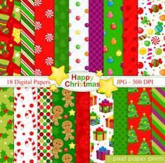 Happy Christmas - Digital papers