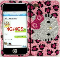 Bling Cell Phone Cases for Girls Fits Iphone 4 4s Hello Kitty Leopard Cheetah Hard Rhinestone Crystal Bling Full Cover Faceplate ,Free Bling Home Button-Pink by Bling_Cases_USA, http://www.amazon.com/dp/B008GI9GFS/ref=cm_sw_r_pi_dp_5SaVqb0858T83