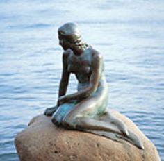 Little Mermaid statue in Copenhagen! I heart everything about Copenhagen, it is a stunning city and #3 on my list!