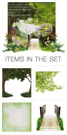 """Summer Garden"" by onenakedewe ❤ liked on Polyvore featuring art"