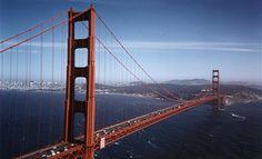 San Francisco, California.  Golden Gate Bridge. an architectural marvel.