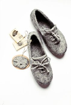 Ecological felted slippers by ing00te on Etsy, $68.00