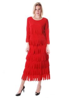 Amanda Women's L/S Carwash Skirt Set XL Red And Black *** Details can be found by clicking on the image.
