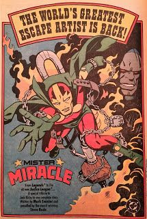 House ad + one page from Mister Miracle Special art by Steve Rude. An artist at the height of his powers meeting my favorite New Gods character. I love Rude on pretty much anything, but. Bruce Timm, New Justice League, Big Barda, Jack Kirby Art, Superhero Villains, Fourth World, New Gods, Dc Comics Characters, Comic Books Art