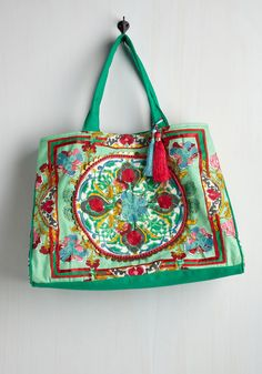 Boho Accessories - Travel Far and Wise Weekend Bag in Meadow